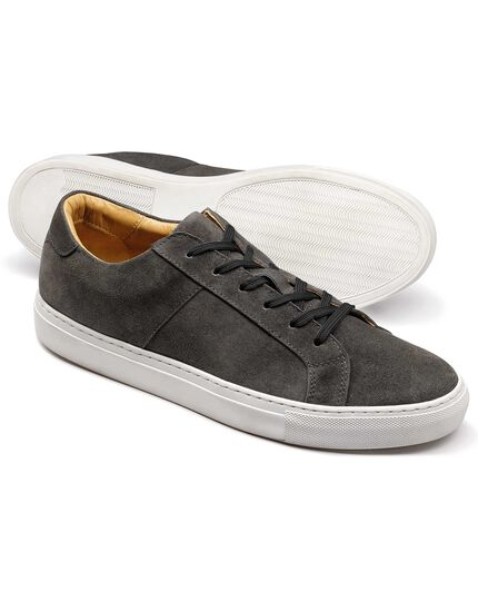 Grey suede sneakers