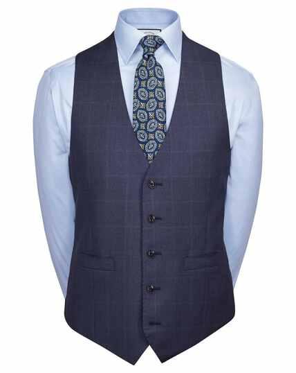 Airforce blue adjustable fit Italian suit waistcoat