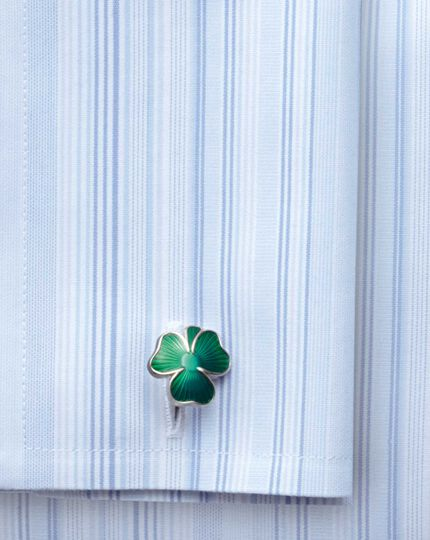 Irish shamrock enamel cufflinks