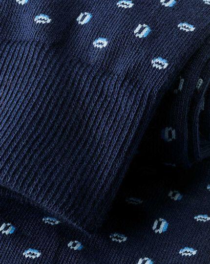 England Rugby Socken mit Rugbyball-Motiv - Marineblau & Weiß