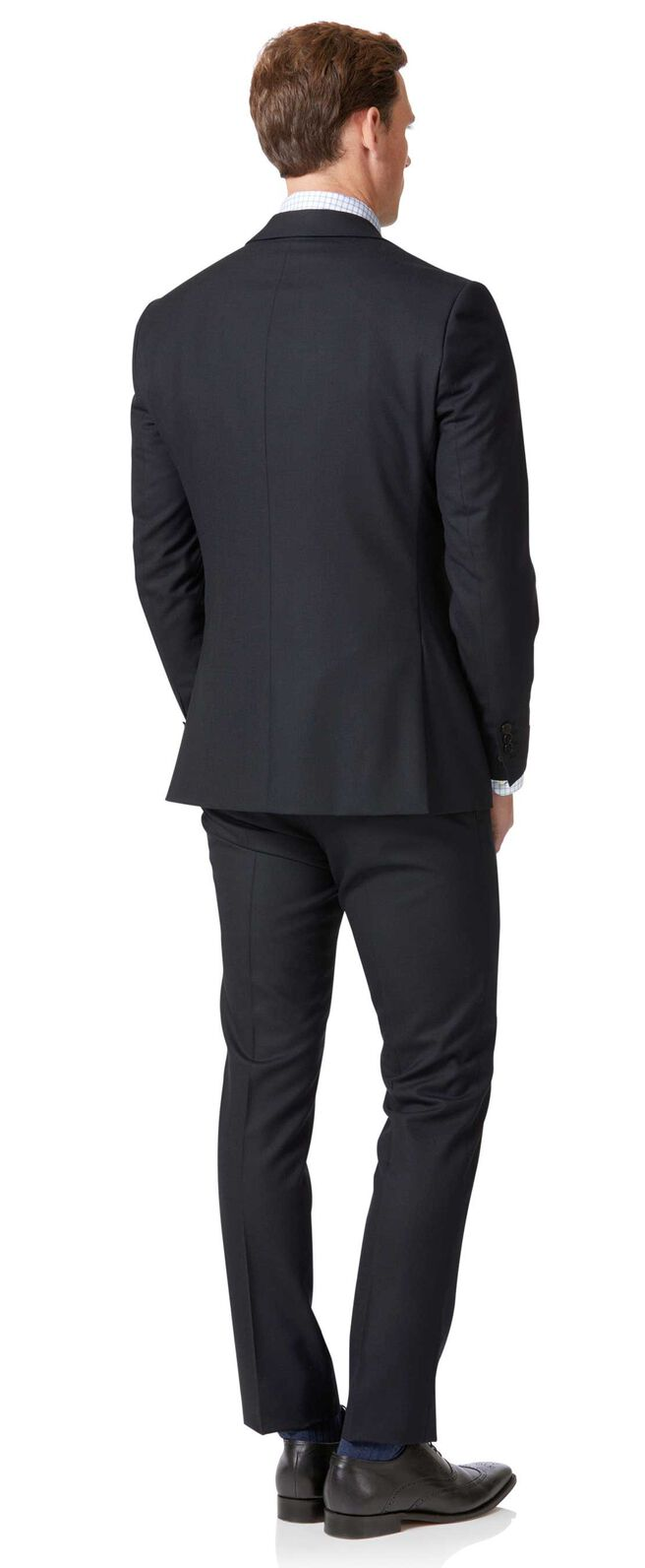 Midnight blue extra slim fit business suit