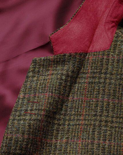 Classic Fit Sakko aus englischem Tweed in Grün mit Karos