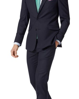 Extra Slim Fit Merino-Businessanzug in Mitternachtsblau