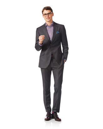 Grey slim fit Italian stripe suit