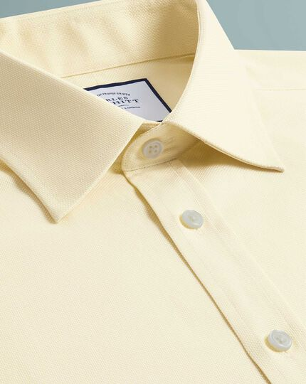 Chemise jaune en oxford royal de coton égyptien extra slim fit