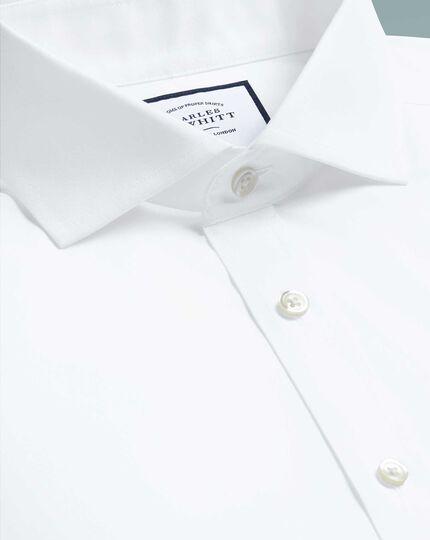 Bügelfreies Tyrwhitt Cool Extra Slim Fit Hemd mit Haifischkragen in Weiß