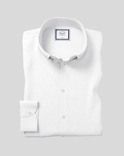 Chemise à col boutonné sans repassage - Blanc