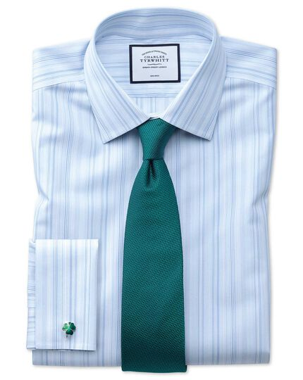 Teal silk plain classic tie