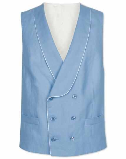 Blue adjustable fit morning suit vest