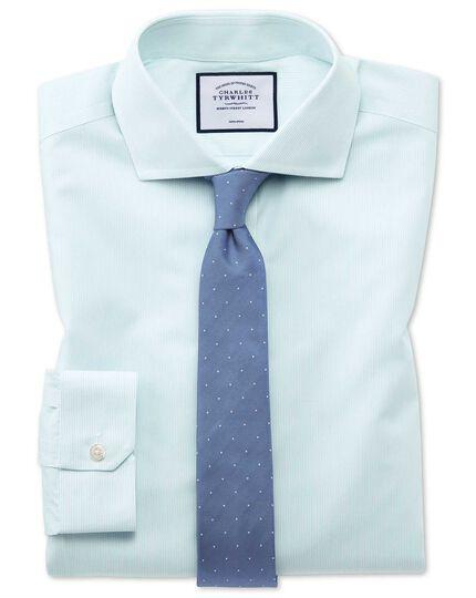 Super slim fit non-iron Tyrwhitt Cool poplin aqua shirt