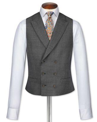 Dark grey adjustable fit morning suit vest