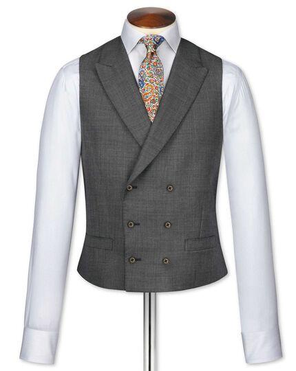 Dark grey adjustable fit morning suit waistcoat