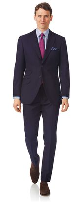 Navy slim fit British luxury suit