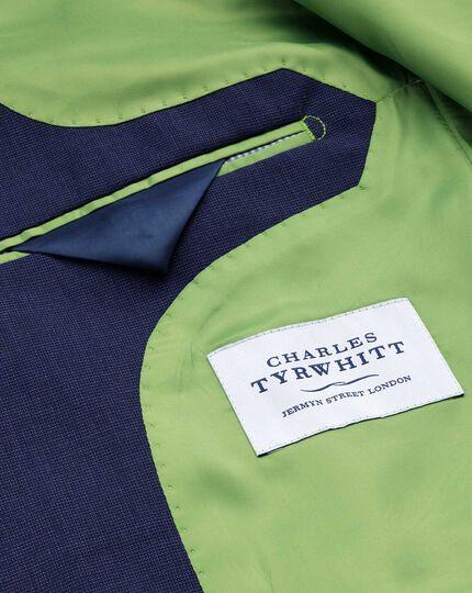 Indigo slim fit end-on-end business suit jacket