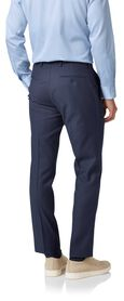 Mid blue slim fit twill business suit