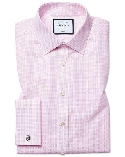 Bügelfreies Extra Slim Fit Hemd aus Dash-Gewebe in Rosa