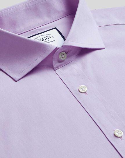 Cutaway Collar Non-Iron Poplin Shirt - Lilac
