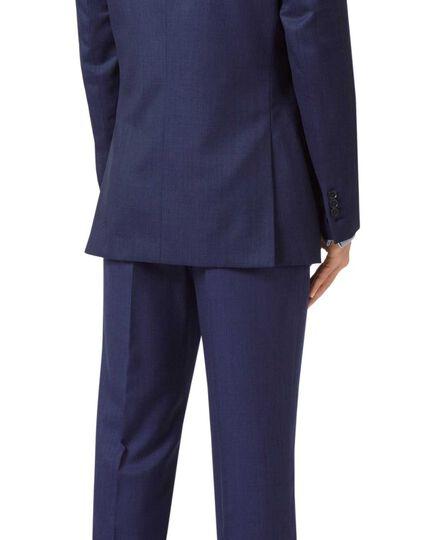 Slim Fit Businessanzug-Sakko mit zarten Streifen in Indigoblau