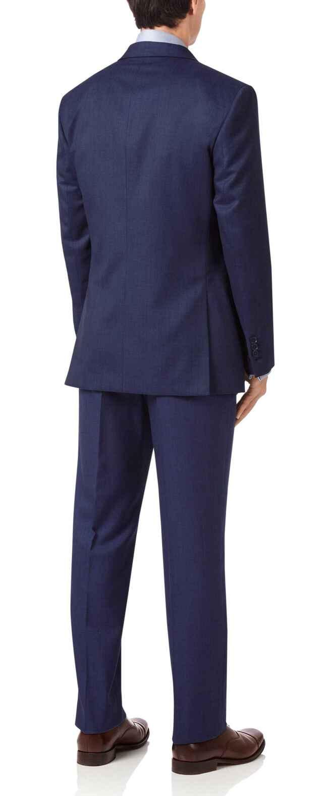Indigo slim fit hairline business suit