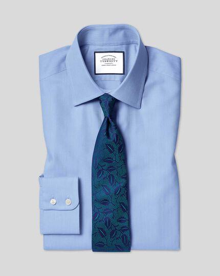 Chemise en coton égyptien à chevrons et col classique - Bleu ciel