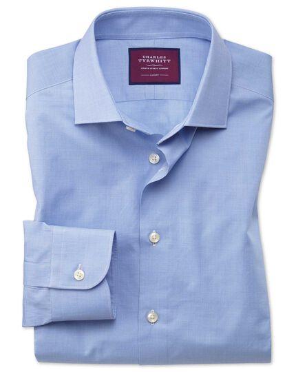 Slim fit blue small puppytooth luxury shirt