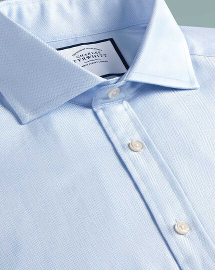 Extra slim fit cutaway  cotton stretch with TENCEL™ blue shirt