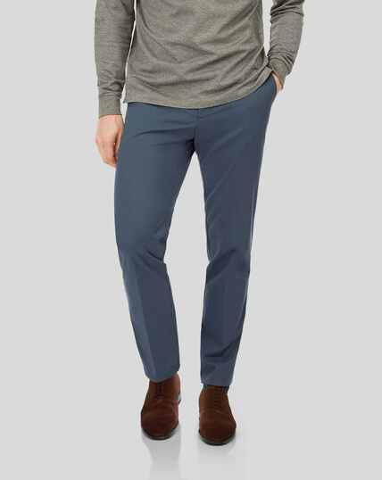 Pantalon chino sans repassage - Bleu acier