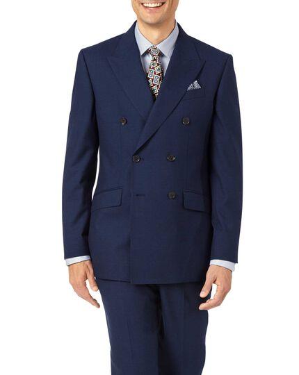 Indigo slim fit Panama puppytooth business suit jacket