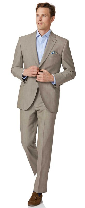 Natural Panama classic fit British suit