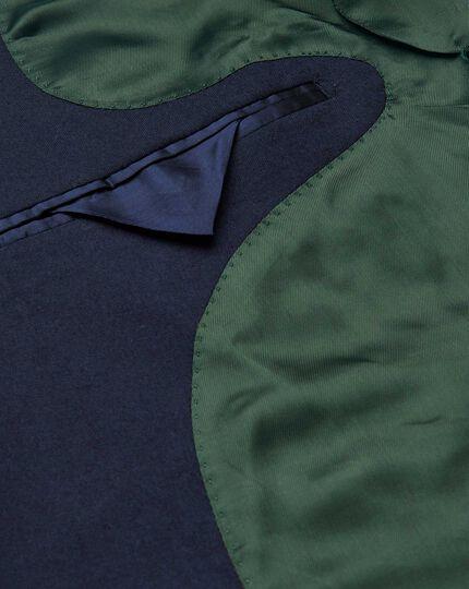 Veste de costume de luxe en tissu anglais bleue slim fit