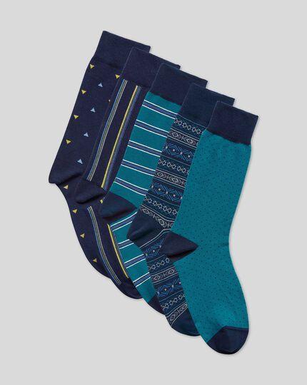 Sock Gift Box - Blue