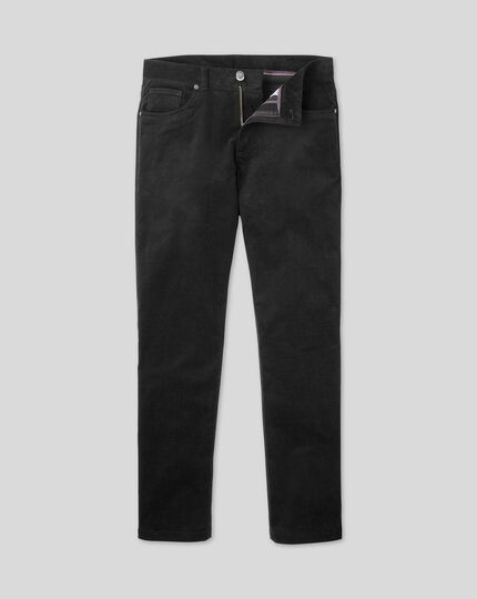 Cord 5-Pocket Trousers - Black