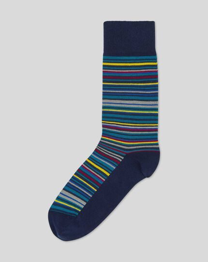 Multi Stripe Socks - Teal