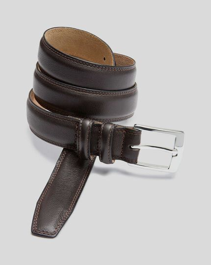 Leather Smart Belt - Chocolate