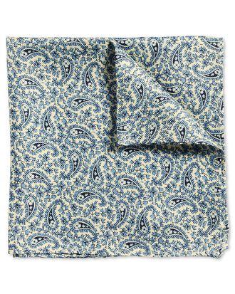 Klassisches Einstecktuch in Blau mit Paisley Muster