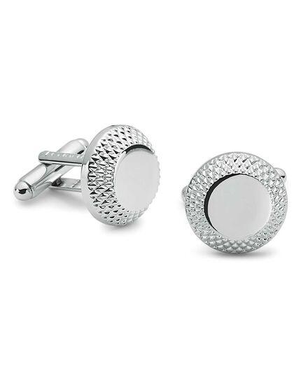 Diamond cut edged metal cufflinks