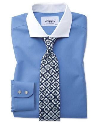 Extra slim fit cutaway non-iron Winchester blue shirt