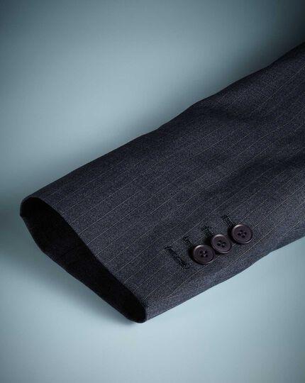 Blue stripe slim fit twist business suit jacket