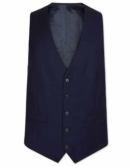 Ink blue adjustable fit birdseye travel suit vest