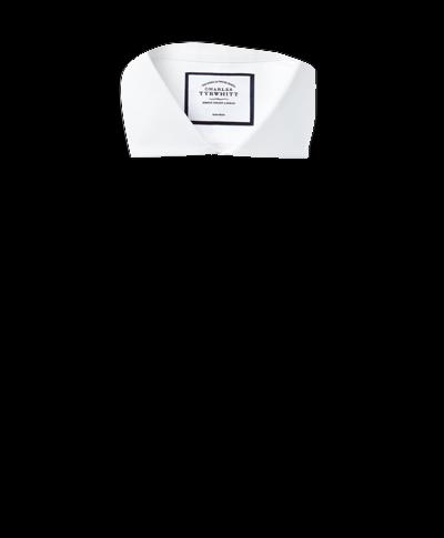 Chemise blanche slim fit en popeline à col cutaway sans repassage