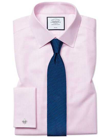 Royal blue and navy silk large lattice stain resistant classic tie