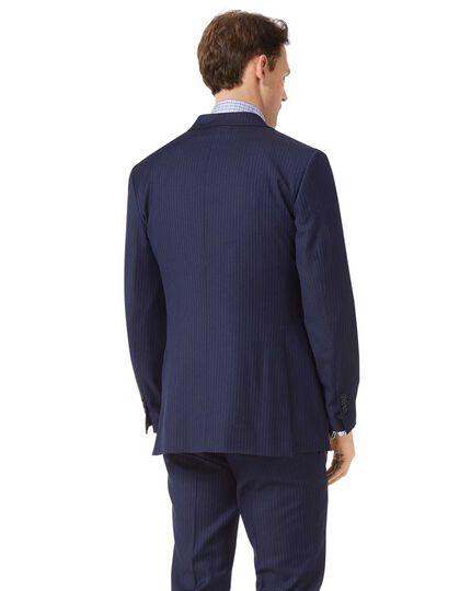 Slim Fit Business-Sakko aus Twill mit Streifenmuster in Blau