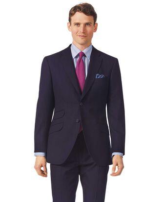 Veste de costume de luxe bleu marine en tissu britannique slim fit