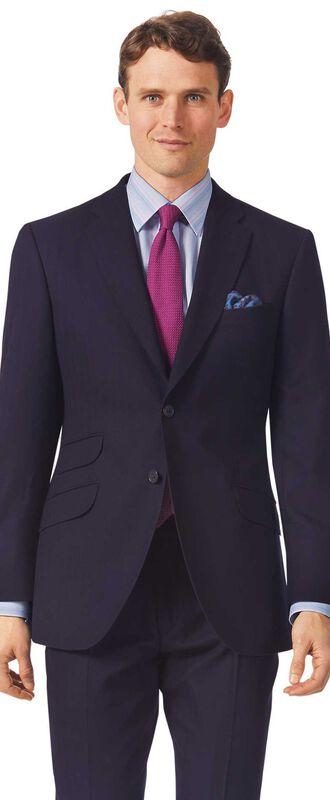 Slim Fit Luxusanzug-Sakko aus britischem Material in Marineblau