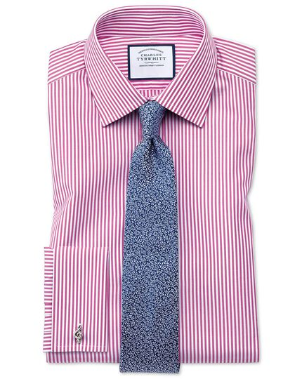 Slim fit Bengal stripe pink shirt
