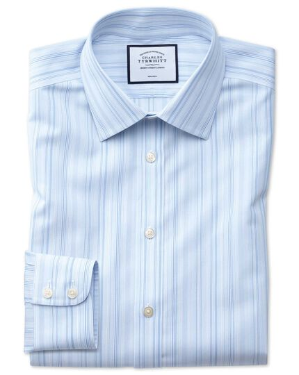 Extra slim fit non-iron blue multi stripe shirt