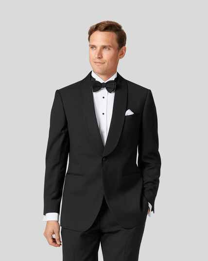 Shawl Collar Tuxedo Jacket - Black