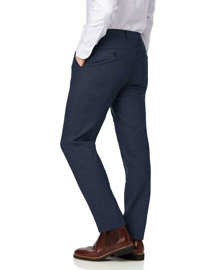 Navy slim fit stretch non-iron Pants