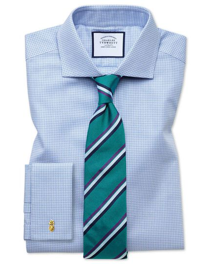 Teal and purple reppe stripe English luxury tie