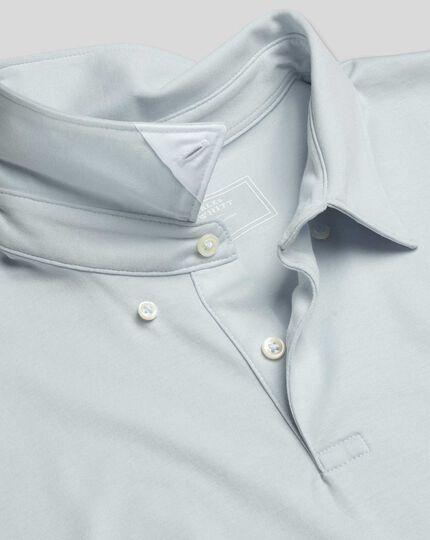 Smartes Jersey-Polo - Eisblau